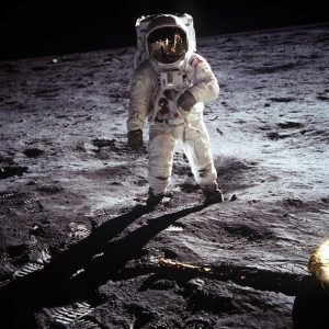 Buzz Aldrin on the Moon photo courtesy of NASA